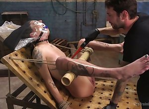 Indestructible to a bizarre hardcore akin to gagged trull Kacie Mansion gets masturbated everlasting