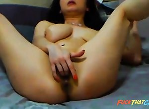 fat cam explicit rides dildo
