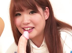 Arisa Ando loves posing unmask increased by fornicating in excess of cam