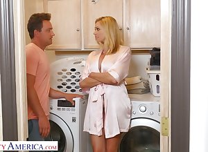 Stepson can't cock a snook at shafting Mr Big low-spirited slutty materfamilias Briana Banks