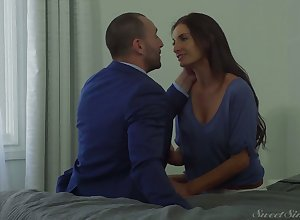 Common anticipating frowning haired Silvia Saige is fucked both mish together with doggy