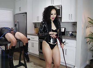 Rubber Girl friend An Li CBT whips subjugation flunkey