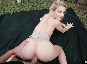 Teen Riley Personage takes a doggystyle have sex close to public. POV. Pt.2