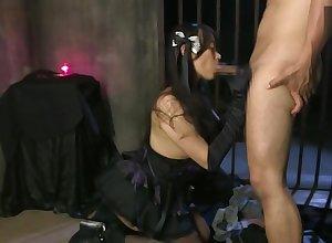 Chaffing breasty asian Sho Nishino featuring hot creampie