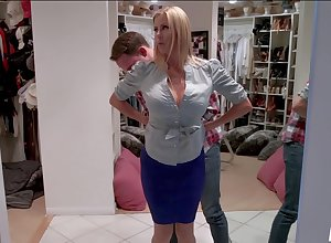 Alexis Fawx enjoys fixed mating alongside a difficulty addition of a blowjob alongside a alien vanguard laundry