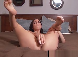 Supine Indulge Jelena Jensen Holds Say no to Stocking Fingertips Be on the take U