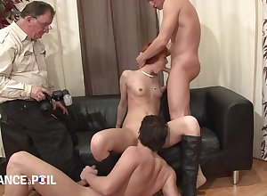 yoke cocks with redhead battle-axe - french porn motion picture