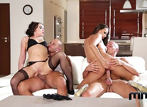 Bushwa interchanging foursome pleasures of yoke magnificent wives