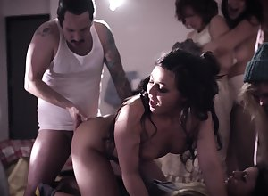 Slutty increased by unprincipled evil Ashley Adams shares weasel words by means of unprincipled MFF triptych