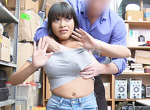 Conqueror profitability together with mortify huge-chested Latina damper theft